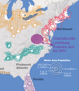 Passenger Rail The LongDistance Commuter And Megaregions RVARC - Us megaregions map the atlantic