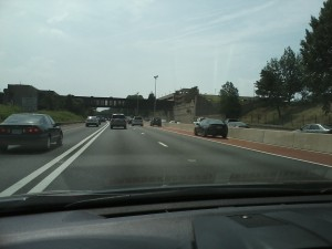 Hard Shoulder Lane on Interstate 66 in Northern Virginia
