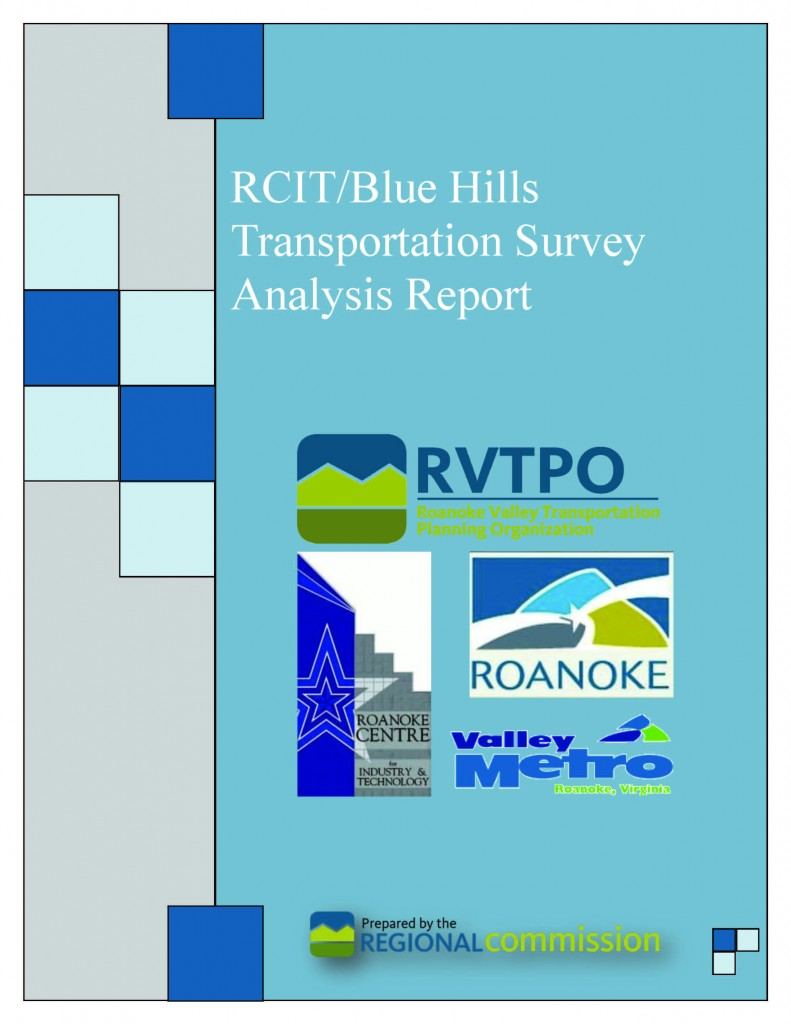 RCIT Blue Hills Transportation Survey Analysis Cover